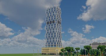 Hearst Tower Minecraft Map & Project