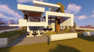 Sleek Modern House Minecraft Map & Project