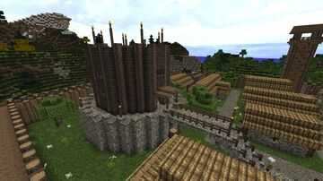 Wooden donjon Minecraft Map & Project