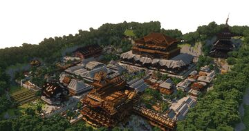 Pearl55's Japanese-style world Minecraft Map & Project