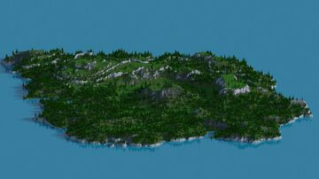 Sleeping, Mossy Bob 1.14-1.16 (3072x3072) Bob's Island Minecraft Map & Project