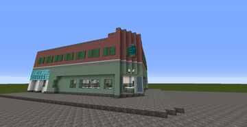 1955 Hill Valley Lou's Cafe Minecraft Map & Project