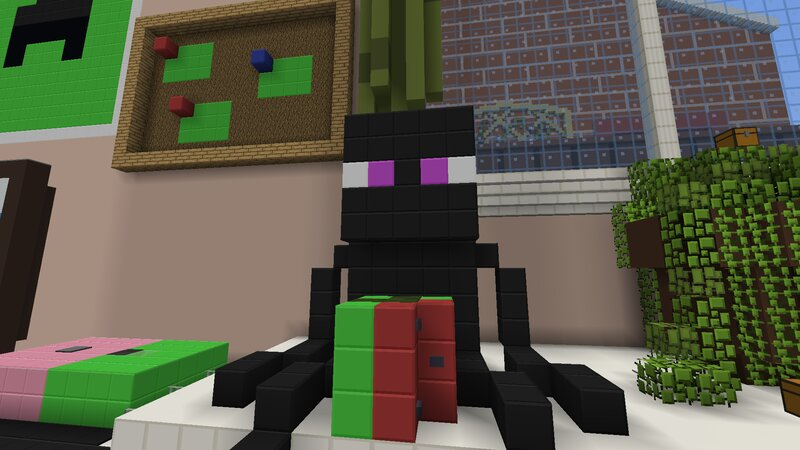 The Enderman has eyes now! And a melon.