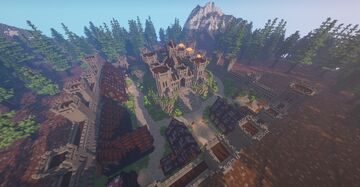 Pinewood Hills Fortress, a Fortress City Minecraft Map & Project