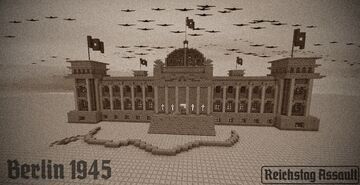 REICHSTAG ASSAULT WW2 MAP REMASTERED Minecraft Map & Project
