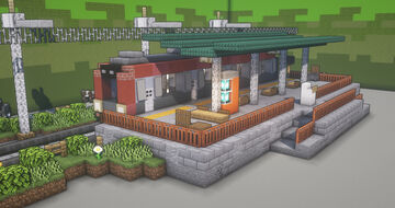 Small Train Station Minecraft Map & Project