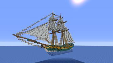 Minecraft ship build- HMS Interceptor. Minecraft Map & Project