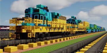 SRO 1:1 scale saudi arabia SDL50 locomotive with container Minecraft Map & Project