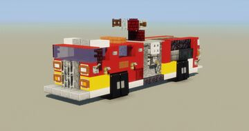 Fire Truck (with water cannon) Minecraft Map & Project