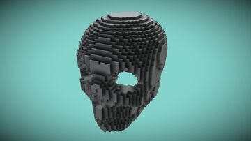 Human Skull 73x100x96 Minecraft Map & Project