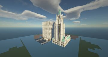 Skyscraper Build - Woolworth Building New York City Minecraft Map & Project