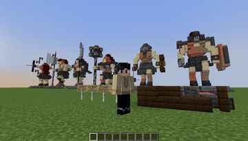 Gladiator Statues Build Idea [Remake] - [World Download] Minecraft Map & Project
