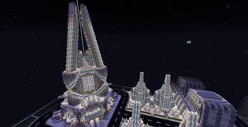 A science fiction base Minecraft Map & Project