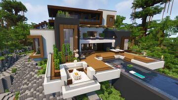 Tropical Modern Mansion Minecraft Map & Project