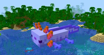 💙 Minecraft Blue Axolotl House 💙 Minecraft Map & Project