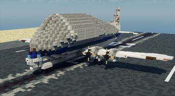 NASA Super Guppy - 1.5:1 Scale Minecraft Map & Project