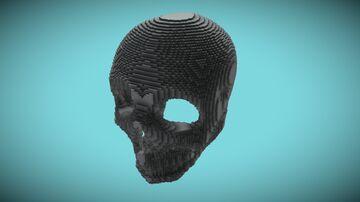 Human Skull 37x50x48 Minecraft Map & Project