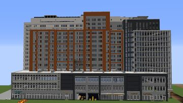 1.5:1 scale reference Hu Lin Orthodontics & Invisalign Center NYC. Minecraft Map & Project