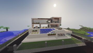 Mansion moderna simple / Simple modern mansion Minecraft Map & Project