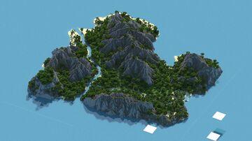 Faira - 1k x 1k Custom Island Terrain Minecraft Map & Project