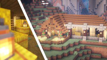 Minecraft | Barn Building Idea | How to Build A Barn Tutorial Minecraft Map & Project