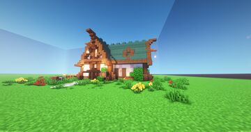 Simple Survival Spruce House Minecraft Map & Project