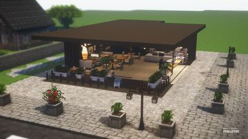 [Cocricot] Modern Cafe Restaurant #1 Minecraft Map & Project