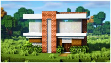 Simple Modern House Minecraft Map & Project
