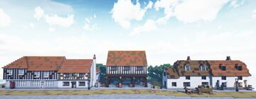 Tudor Market Hall and Village Street (Horndon-On-The-Hill) Minecraft Map & Project