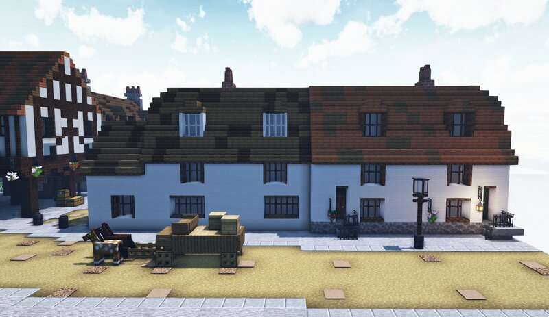A row of terraced Cottages, based on 'Halls Row'