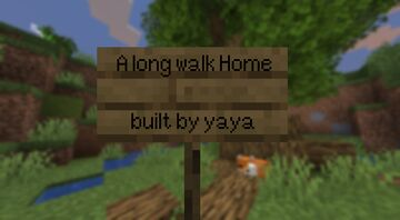 A long walk home Minecraft Map & Project