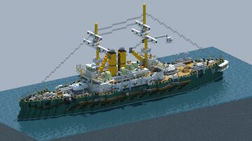 HMS Albion battleship [With Download] Minecraft Map & Project