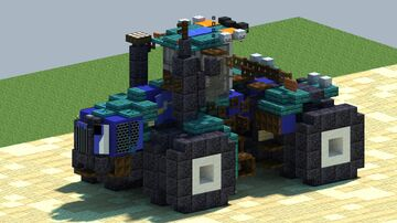 New Holland T9, 4WD tractor [With Download] Minecraft Map & Project