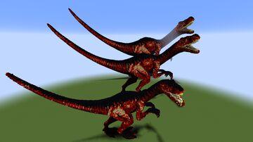 Velociraptor Statue - three different sizes! Minecraft Map & Project