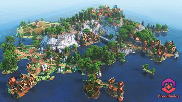 Countryside Lobby ❯ Beautiful Spawn ❯ Medieval Villages ❯ 700x700 Hub Minecraft Map & Project