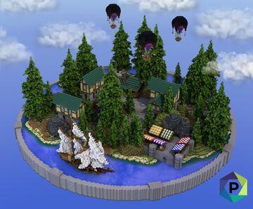 Medieval Village Hub | 1.8+ Minecraft Map & Project