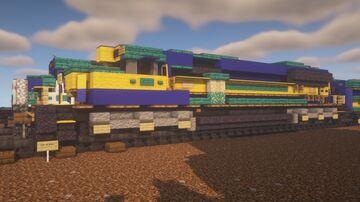 Alaska Railroad - EMD SD70MAC + Baggage Car Minecraft Map & Project