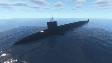 Ohio Class Ballistic Missile Submarine Full Interior Minecraft Map & Project