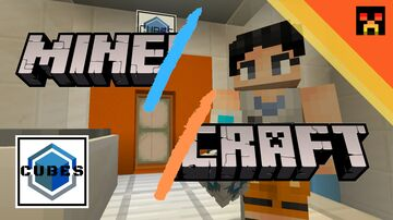 *Minecraft* CUBES -Part1- Puzzemap in Portal Style Minecraft Map & Project