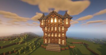 City hall, Erathia Style City by QbaQ, HoMM III inspiration Minecraft Map & Project