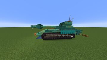 Fictional R-O7 Tank Prototype Minecraft Map & Project