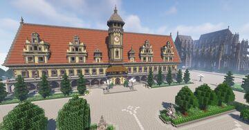 Rathaus Leipzig + (Bedrock Edition) Minecraft Map & Project
