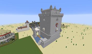 "Age of Empires II - Portuguese Wonder ""Torre de Belém"" Minecraft Map & Project"