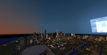aerial view of Los Angeles In Minecraft Minecraft Map & Project
