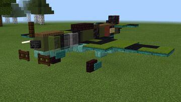 1.5:1 scale Lavochkin La-5 Minecraft Map & Project