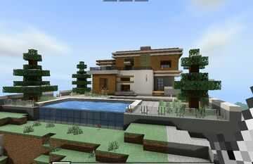 Modern Mount House Minecraft Map & Project