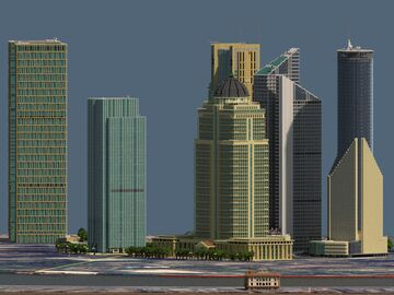 HEART OF SHANGHAI--Lujiazui financial district & the bund 1:1 replica Minecraft Map & Project