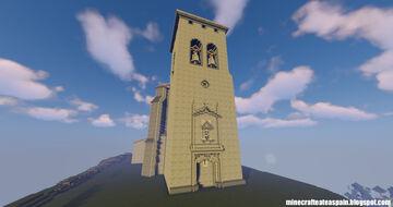 Minecraft replica: Church of San Lorenzo Mártir de Fuenteodra (Burgos), Spain. Minecraft Map & Project