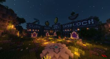 Server Hub -> SkyBlock, MiniGames, Survival, Dupe Minecraft Map & Project