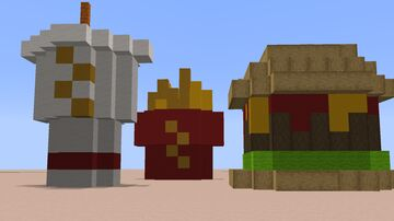 Fast Food Build Minecraft Map & Project